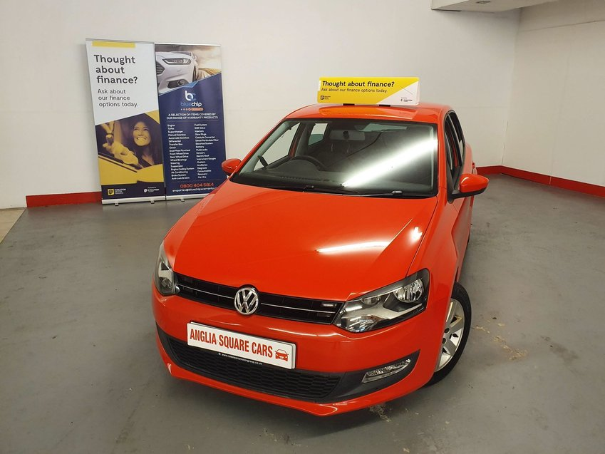 VOLKSWAGEN POLO  Match Edition Red Manual Petrol, 101,000 MILES, 2 Keys